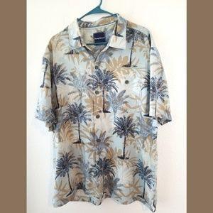 Tommy Bahama Silk Palm Tree Print SS Shirt XL